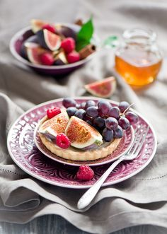 Beautiful Fresh Fruit Tarts. #food #tarts #dessert