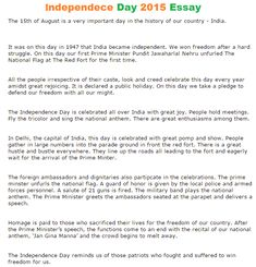 independence day essay essay Free independence day papers, essays, and research papers.