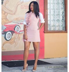 Fashion Look Featuring MSGM Day Dresses and Asos Button Front Tops by StellaJadoreFashion - ShopStyle Corporate Outfits For Women, Corporate Shirts, Day Dresses, Short Dresses, Fashion Essentials, Ruffle Dress, Ruffles, Lord & Taylor, Latest Trends