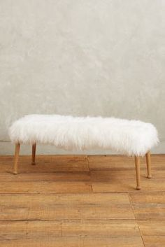 Anthropologie Luxe Fur Bench #anthroregistry