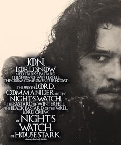 JON SNOW : IMPOSSIBLE !!! RIP
