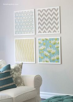 Fabulous DIY Fabric Wall Art For A Spring Home Decor Update