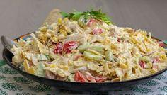 Krämig pastasallad med kyckling Zeina, Vegetarian Recipes, Healthy Recipes, Good Food, Yummy Food, Quick Meals, Pasta Dishes, Summer Recipes, Pasta Recipes