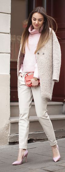 Baby Pink On Neutrals Outfit