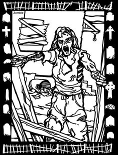 house of horror stained glass coloring book by jeff a menges dover publications