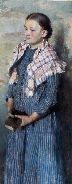 Church Girl (1889). Akseli Gallen-Kallela (Finnish, 1865-1931). Oil on canvas.