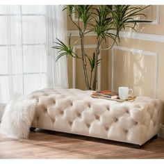 Shop for Piper Tufted Velvet Fabric Rectangle Ottoman Bench by Christopher Knight Home. Get free shipping at Overstock.com - Your Online Furniture Outlet Store! Get 5% in rewards with Club O! - 18925276