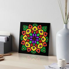 """Flower of Life Mandala"" Art Board Print by Pultzar   Redbubble"