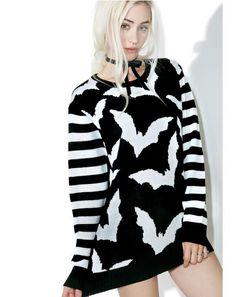 Bat Stripe Sweater