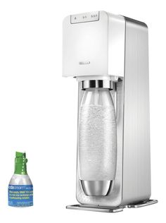 SodaStream Power Metal Sparkling Water Maker Starter Kit, White -- Read more reviews of the product by visiting the link on the image.