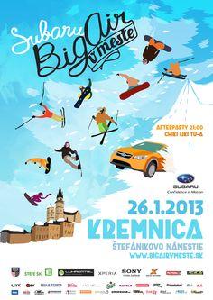 SUBARU Big Air v meste – snowboarding afreeskiing opäť vcentre Kremnice