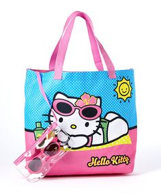 Look what I found on #zulily! Hello Kitty Beach Tote & Sunglasses Set by Hello Kitty #zulilyfinds
