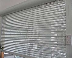 AES Roller shutters manufacture, installation, service and repair Shop Shutter, Shutter Doors, Apartment Balcony Decorating, Apartment Balconies, House Outer Design, House Design, Shutter Designs, Window Bars, Roll Up Doors
