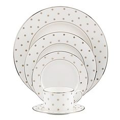 "kate spade new york ""Larabee Road"" Platinum 5 Piece Place Setting 