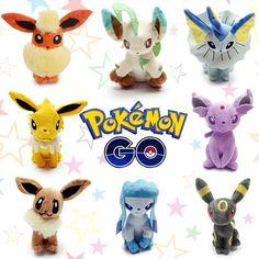 Pokemon Go Anime Plush Toys Umbreon Eevee Espeon Jolteon Vaporeon Flareon Glaceon Leafeon Sylveon //Price: $11.35 & FREE Shipping //