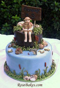 Boy Fishing Cake