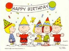 """, from Charlie Brown, Snoopy and the Peanuts Gang. Happy Birthday Charlie Brown, Peanuts Happy Birthday, Happy Birthday Clip Art, Snoopy Birthday, Happy Birthday Wallpaper, Birthday Clips, Happy Birthday Images, Happy Birthday Greetings, Birthday Photos"
