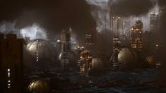 Learn how to create a futuristic city using Octane Scatter, as well as how to use Octane environment fog volume to create dramatic haze and clouds!