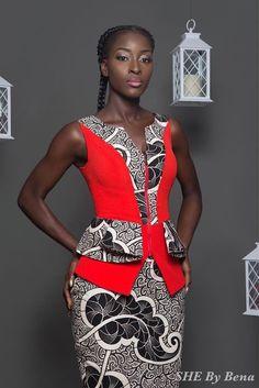 she-by-bena ~African fashion, Ankara, kitenge, African women dresses, African… African Dresses For Women, African Print Dresses, African Attire, African Wear, African Women, African Prints, African Beauty, African Style, African Inspired Fashion