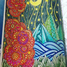 5/100 #thecantsleepcolouringbook #100laminasparacolorearydormirbien #colourinforgrownups #creativecolouring #creativecolouringforgrownups #arteantiestres #arttherapy #landscape