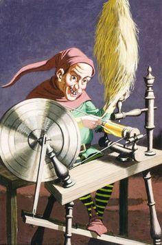 Rumpelstiltskin spinning - Rumpelstiltskin - Eric Winter - Ladybird book