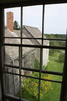 Maine..view from upstairs..Olson Farm