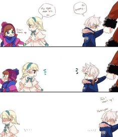 Okay....I don't like Jelsa....BUT THIS IS SO CUTE!!! I'll just look at it from a friend point of view...: