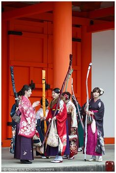 """ Kyudo archery competition, Kyoto, Japan (via Damien Douxchamps) """