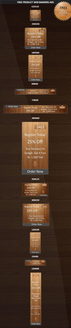 Download Free Web Banners Ads PSD