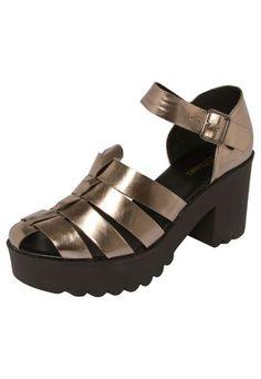 Sandália DAFITI SHOES Tratorada Bronze Dressy Flat Sandals b71299c54d1b0
