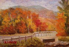 Leaf Peeper's Delight by Sharon Allen oil plein air ~ 4 x 6