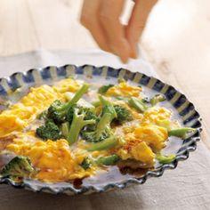 ブロッコリーのあんかけ卵のせ