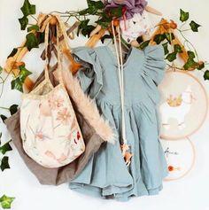 Handmade Linen Savanna Blouse | MiyaAndMa on Etsy #handmadekids