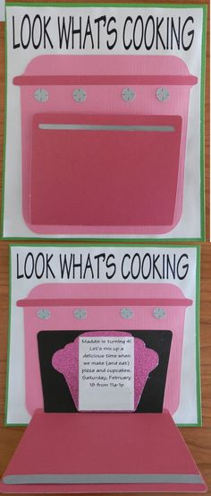 Cooking Party invite