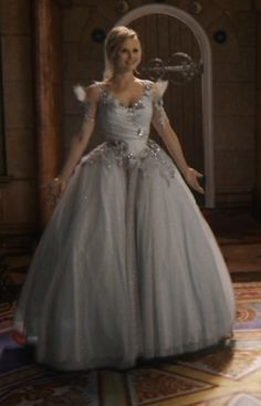 Emma Swan from Once Upon a Time, in a dream sequence, hence her Enchanted Forest  princess attire, finally.