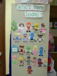 Creative Classroom Project..i already have a whos here board but love the idea of the little people for other things