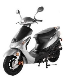From Family Powersport:You'll love the fun Taotao Pony motor scooter's smooth handling and unbelievable fuel economy! Moped Scooters For Sale, Street Legal Scooters, Motor Scooters, Electric Moped Scooter, Scooter 50cc, Electric Mopeds, Triumph Motorcycles, Motorcycles For Sale, Ducati