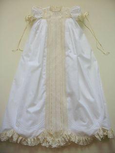 Heirloom Christening Gown by dkreid on Etsy, $575.00