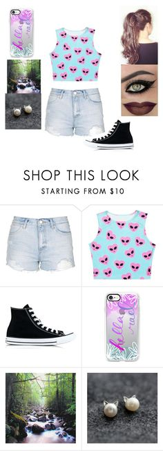 """""""A Outfit"""" by jordanbond55 ❤ liked on Polyvore featuring Topshop, Converse and Casetify"""