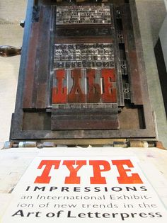 Letterpress printing on a hand press! The good old days!