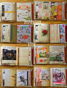 inspiration book. I am giving myself permission to dress up my pages with elements from my stash