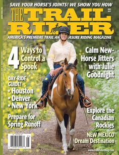 Check out our Venture helmet on Julie Goodnight on the cover of the May issue of The Trail Rider Magazine!