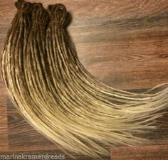 FULL SET double ended synthetic dreads extension OMBRE brown to blonde 29inches