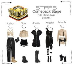 Discover outfit ideas for workout made with the shoplook outfit maker. How to wear ideas for Gangster Pants in Virgin and Black Leather Fingerless Gloves Korean Girl Fashion, Fashion Idol, Kpop Fashion Outfits, Stage Outfits, Edgy Outfits, Dance Outfits, Star Fashion, Girl Outfits, Cute Outfits