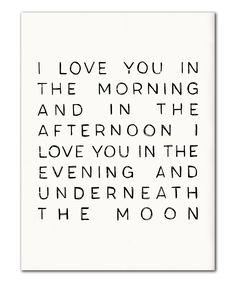 'Underneath The Moon' Print