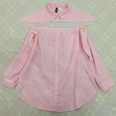 DIY Men's Shirt to Peasant Blouse Tutorial Shirt Dress Diy, Diy Dress, Diy Shirt, Fashion Sewing, Diy Fashion, Ideias Fashion, Fashion Outfits, T Shirt Fashion, Diy Clothes Refashion
