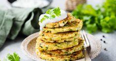 Zucchini Fritters, Pancake Recipe For Kids, Pancake Recipes, Vegetable Pancakes, Tasty Pancakes, Healthy Vegetables, Kids Meals, Vegetarian Recipes, Beignets