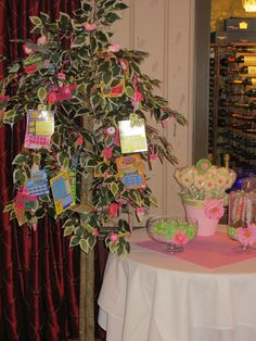 Fun decorations at a Bridal Shower!   See more party ideas at CatchMyParty.com!  #partyideas #bridalshower