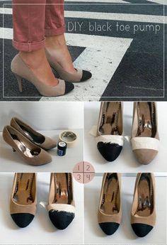 diy high heels makeover diy shoe makeover ideas10