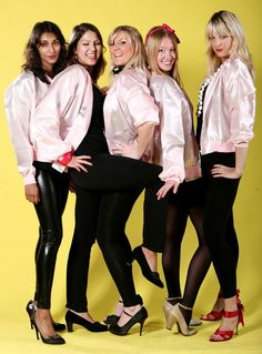 Pink ladies...good idea for a group costume